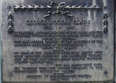 George Rogers Clark Marker Photo, Click for full size