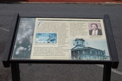 Shiloh Baptist Church (Old Site) Marker image. Click for full size.