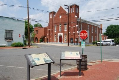 Shiloh Baptist Church (Old Site) & Markers image. Click for full size.