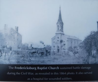 Church damaged in Battle of Fredericksburg image. Click for full size.