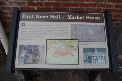 First Town Hall / Market House Marker image. Click for full size.