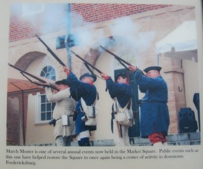 Muster Reenactment in Market Square image. Click for full size.