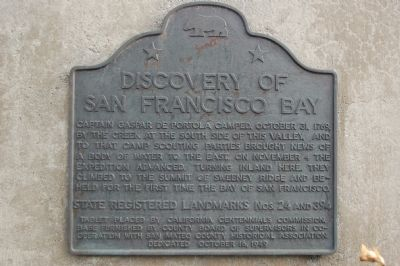 Discovery of San Francisco Bay Marker image. Click for full size.