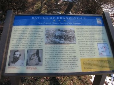 Battle of Dranesville Marker Photo, Click for full size