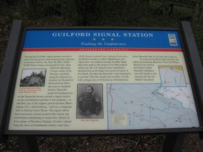 Guilford Signal Station Marker image. Click for full size.