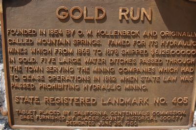 Gold Run Marker image. Click for full size.