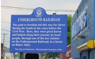 Underground Railroad Marker Photo, Click for full size