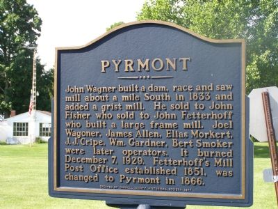Pyrmont Marker (south facing side) image. Click for full size.