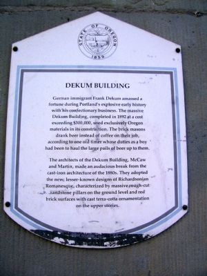 Dekum Building Marker image. Click for full size.