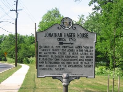Jonathan Hager House, Circa 1740 Marker Photo, Click for full size