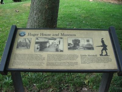 Interpretive Marker at the Hager House image. Click for full size.