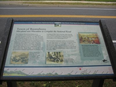 Town of Boonsboro – Maryland uses Macadam to Complete the National Road Marker image. Click for full size.
