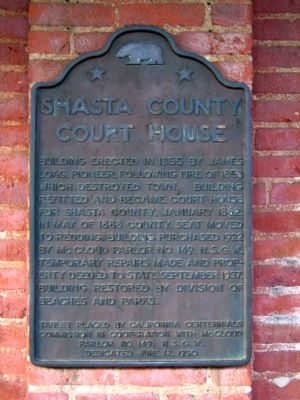 Shasta County Court House Marker image. Click for full size.