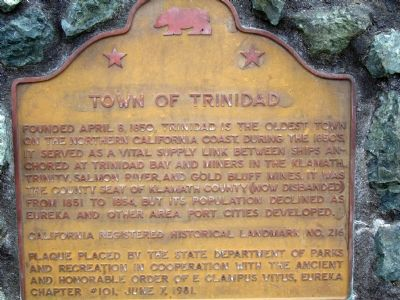 Town of Trinidad Marker image. Click for full size.