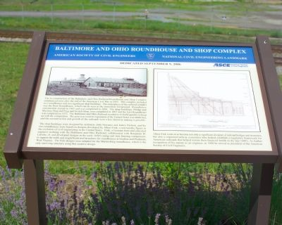 Baltimore and Ohio Roundhouse and Shop Complex Marker Photo, Click for full size