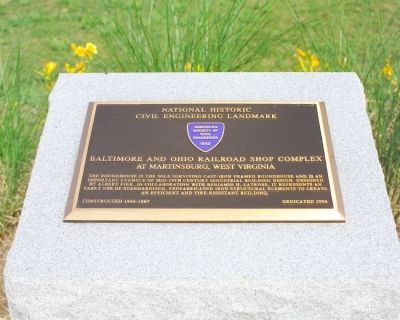 Baltimore and Ohio Railroad Shop Complex Marker Photo, Click for full size