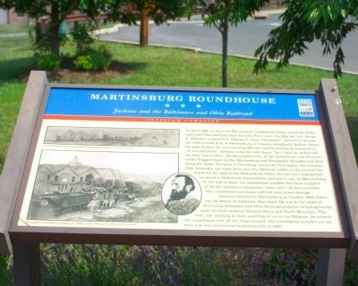 Martinsburg Roundhouse Marker image. Click for full size.