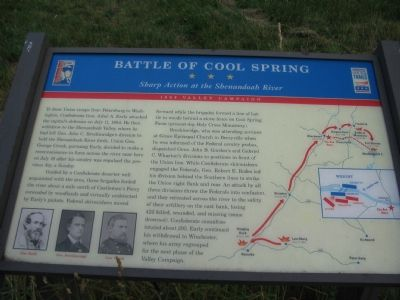 Battle of Cool Spring Marker image. Click for full size.