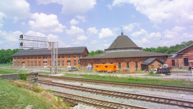 West Roundhouse and Shops as Seen from the Station Photo, Click for full size