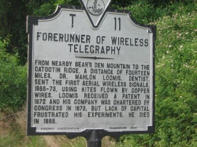 Forerunner of Wireless Telegraphy Marker image. Click for full size.