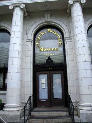 Clarke Memorial Museum Entrance image. Click for full size.