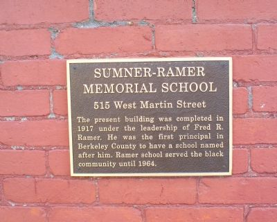 Sumner-Ramer Memorial School Marker image. Click for full size.