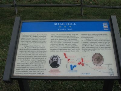 Mile Hill Marker image. Click for full size.