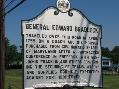 General Edward Braddock Marker image. Click for full size.