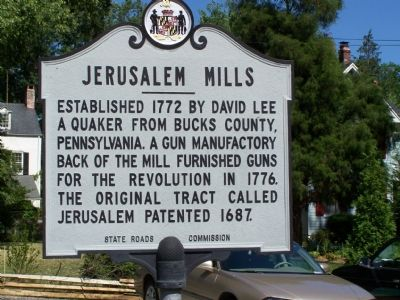 Jerusalem Mills Marker image. Click for full size.