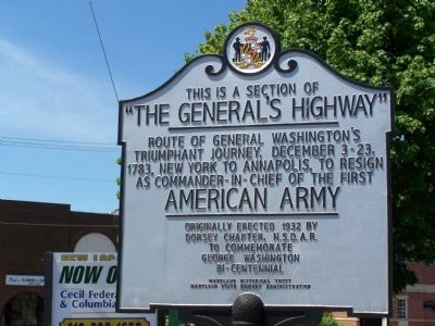 """The General's Highway"" Marker image. Click for full size."