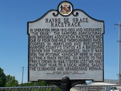 Havre de Grace Racetrack Marker image. Click for full size.