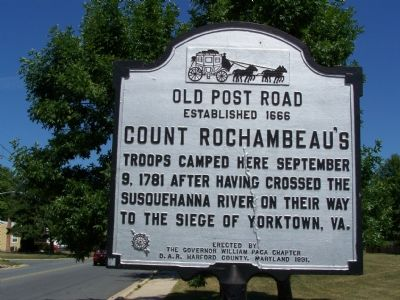 Count Rochambeau's Troops Marker image. Click for full size.