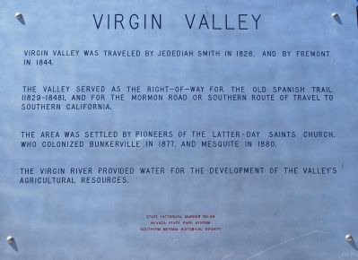 Virgin Valley Marker image. Click for full size.