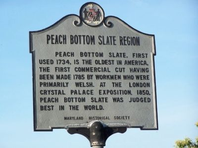 Earlier Peach Bottom Slate Region Marker Photo, Click for full size