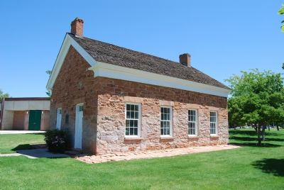 View of schoolhouse from the south. image. Click for full size.