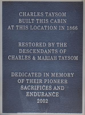 Taysom Cabin Marker Photo, Click for full size