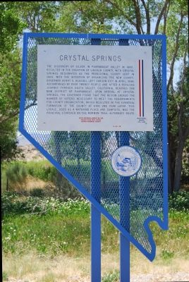 Crystal Springs Marker image. Click for full size.