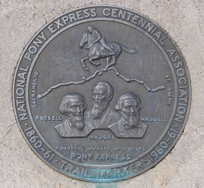 Pony Express Centennial Trail Medallion image. Click for full size.