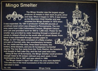 Mingo Smelter Marker image. Click for full size.