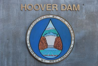 Hoover Dam, Bureau of Reclamation Logo image. Click for full size.