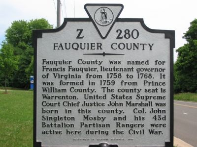 West or Fauquier County Side image. Click for full size.