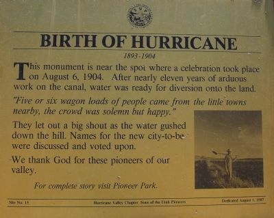 Birth of Hurricane Marker image. Click for full size.