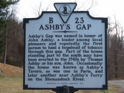 Ashby's Gap Marker image. Click for full size.