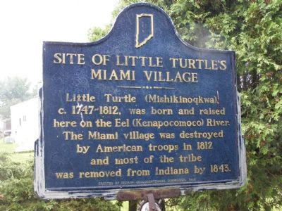 Site of Little Turtle's Miami Village Marker image. Click for full size.