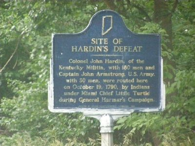 Site of Hardin's Defeat Marker image. Click for full size.