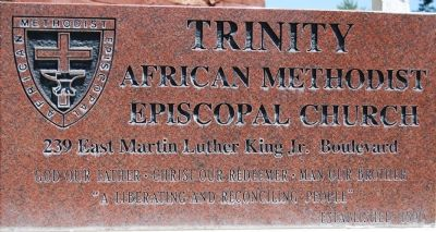 Trinity African Methodist Episcopal Church Marker image. Click for full size.