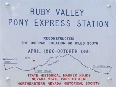RUby Valley Pony Express Station Marker Photo, Click for full size
