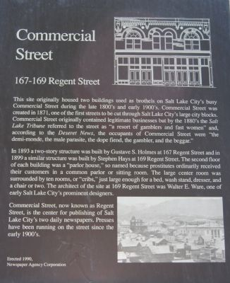 Commercial Street Marker image. Click for full size.