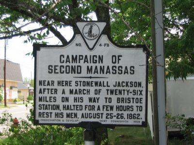 Campaign of Second Manassas Marker image. Click for full size.