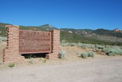 Marker and west side of Colorado Plateau Photo, Click for full size